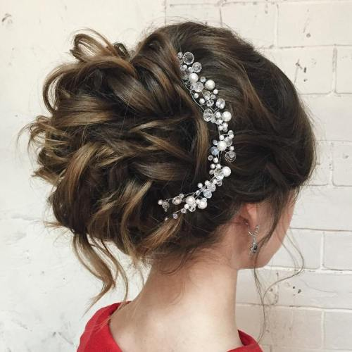 Curly Updo Hairstyles For Weddings: 40 Chic Wedding Hair Updos For Elegant Brides