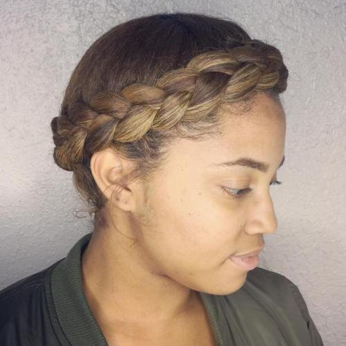 Headband Braid Updo For Natural Hair