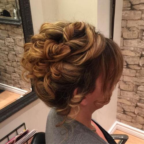 Pinned Curly Updo For Shorter Hair