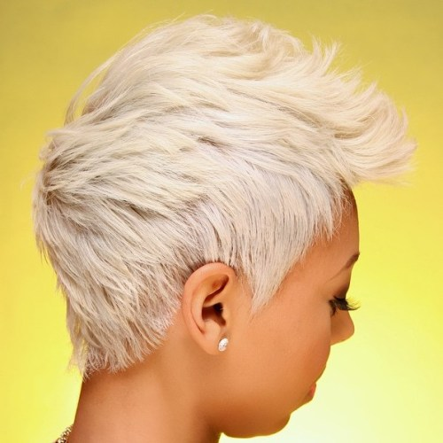 Platinum Blonde Layered Pixie