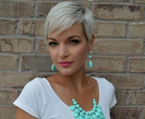 Hair styling for pixie cut