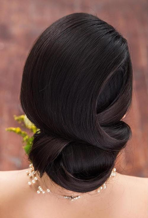 Chic wedding hair updos for elegant brides sleek formal wedding updo for long hair junglespirit Choice Image