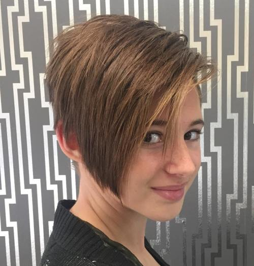 Teenage Girls Pixie Bob Haircut