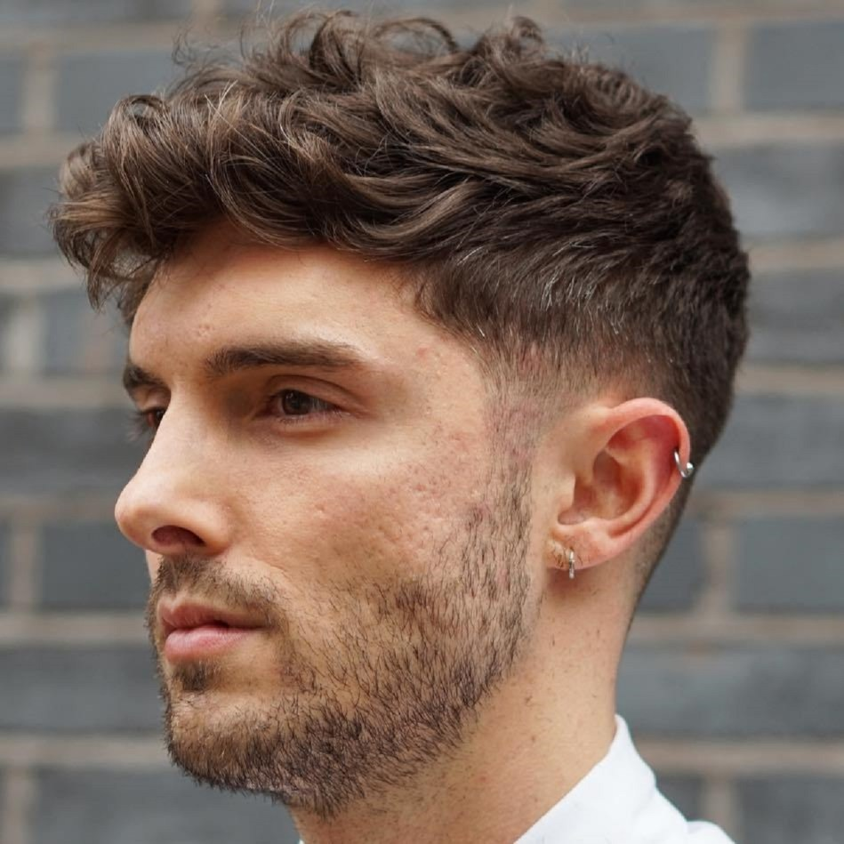 mens haircuts for thick curly hair 40 statement hairstyles for with thick hair 3687 | 8 wavy taper for thick hair