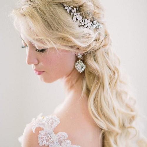 Outstanding Half Up Half Down Wedding Hairstyles 50 Stylish Ideas For Brides Short Hairstyles Gunalazisus