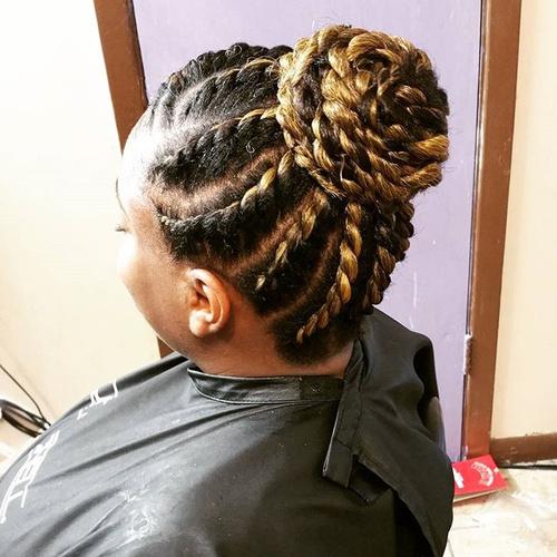 Astonishing 40 Chic Twist Hairstyles For Natural Hair Short Hairstyles For Black Women Fulllsitofus