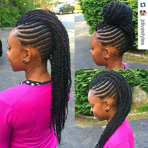 Awe Inspiring 40 Chic Twist Hairstyles For Natural Hair Short Hairstyles Gunalazisus