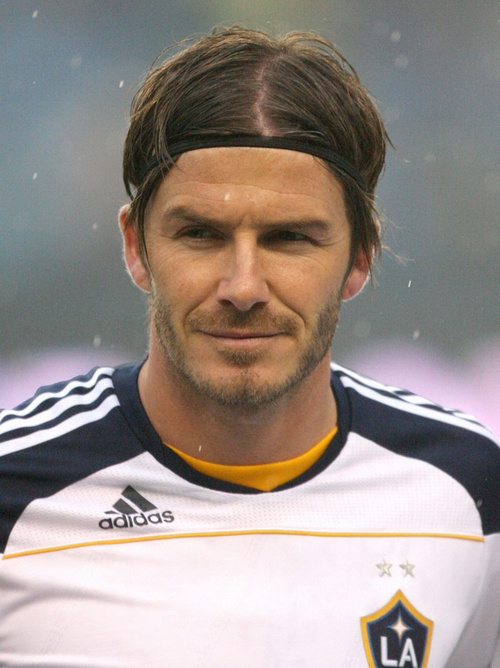 David Beckham medium hair