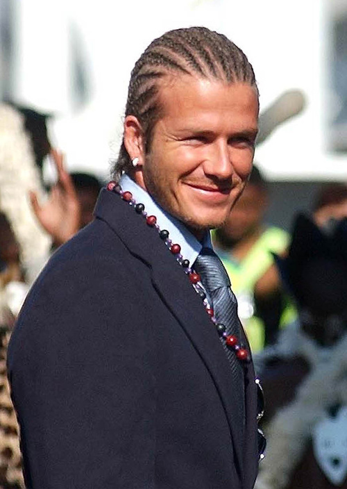 David Beckham cornrows