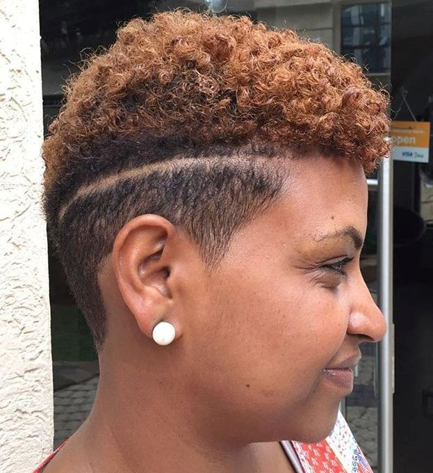 Curly Two,Tone Undercut For Women