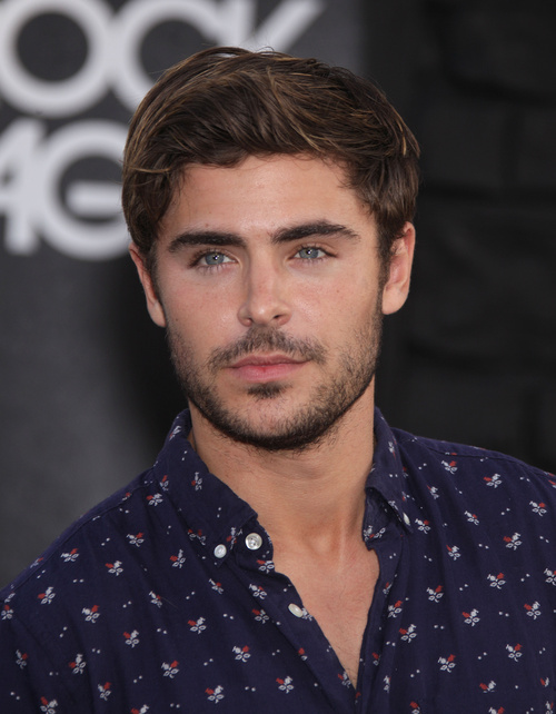Zac Efron textured hairstyle