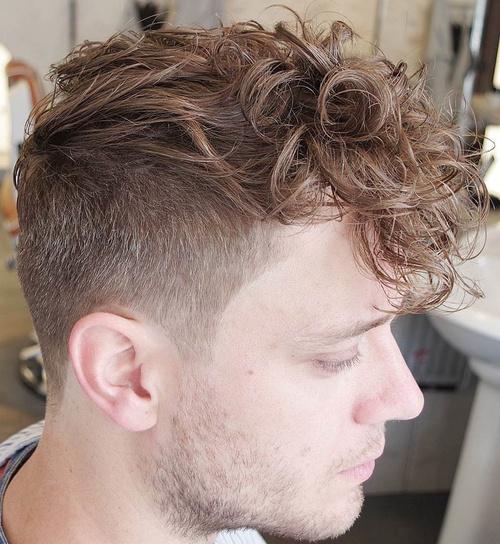Menu0027s Undercut For Curly Hair