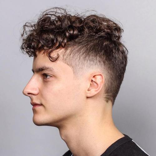 Short Sides Long Top Hairstyle For Curly Hair