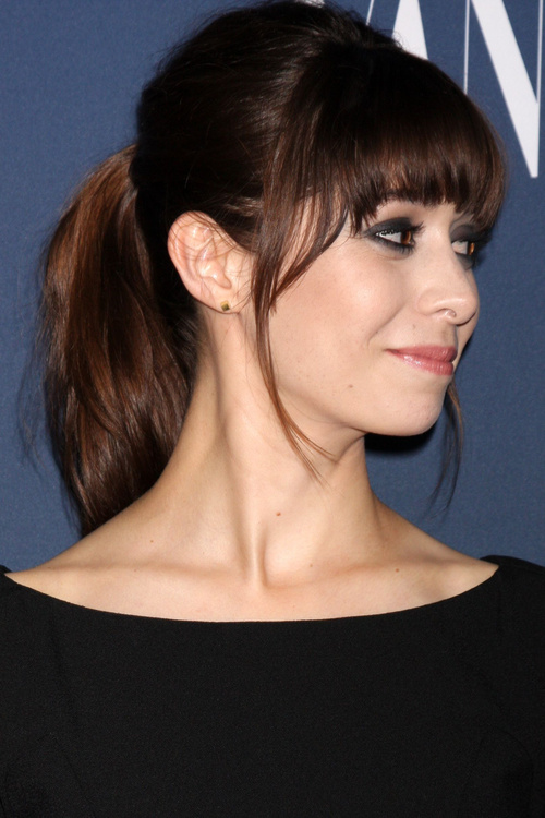 25 best fringe hairstyles to refresh your look ponytail with fringe hairstyle urmus Image collections