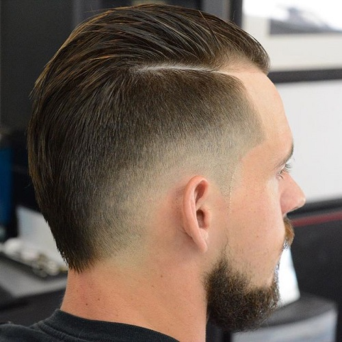 men's fauxhawk haircut with faded sides