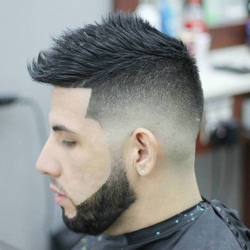 Spiky Haircut With Skin Fade