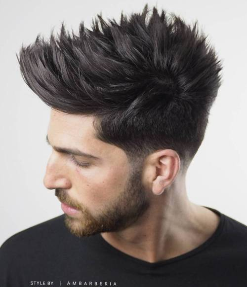 Spiky Taper Haircut