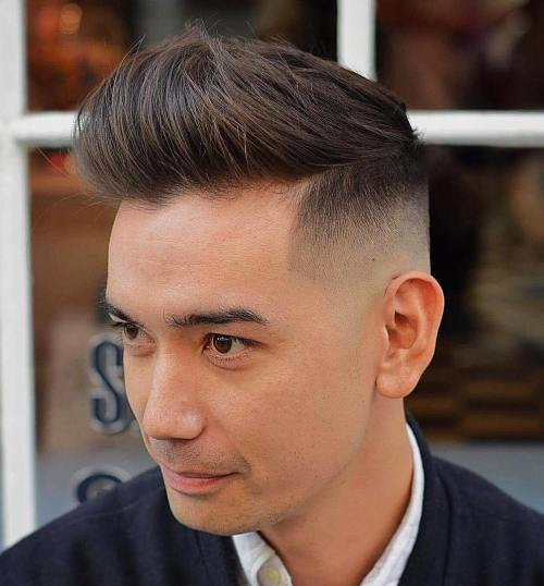 High Fade Undercut For Straight Hair