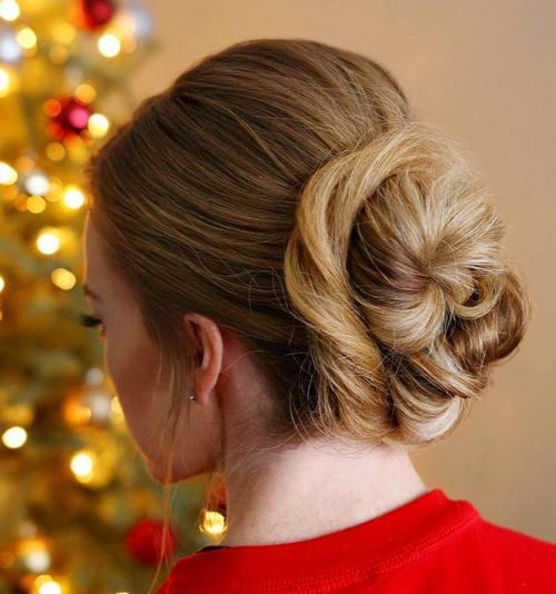 two buns updo