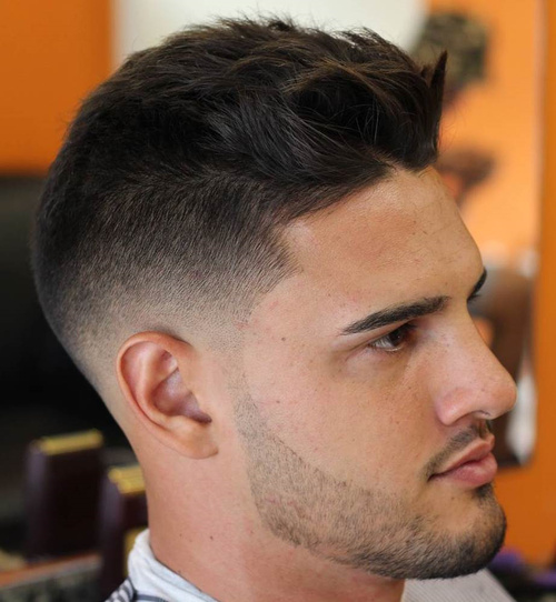 textured fade hairstyle