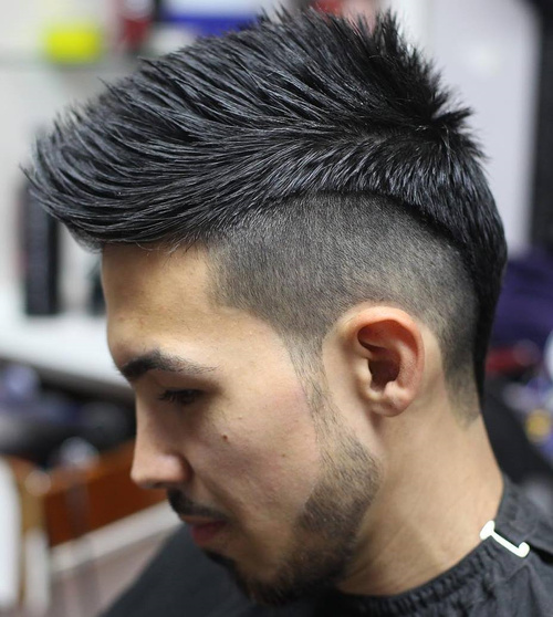 men's spiky haircut with undercut