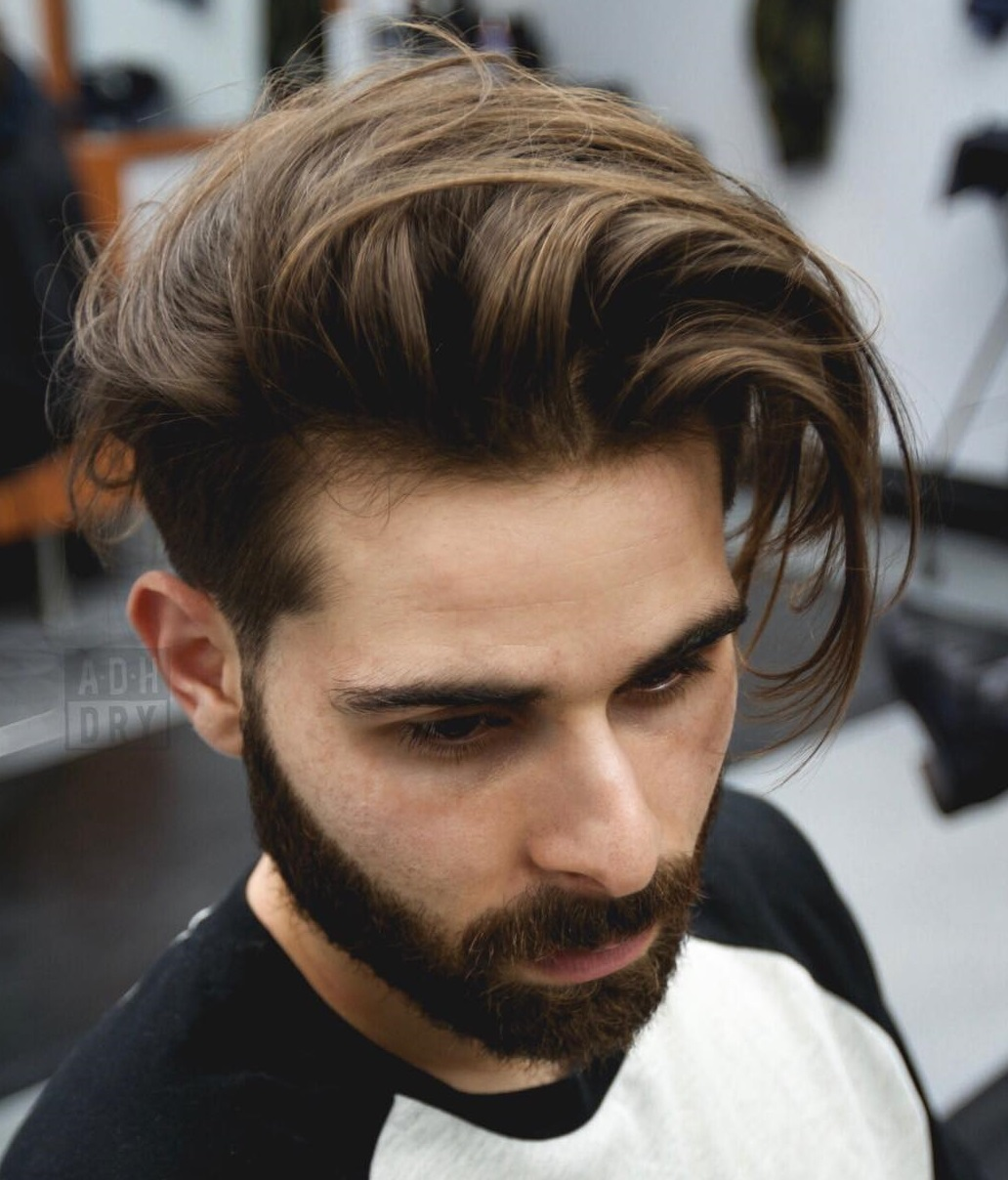 undercut hairstyle long hair