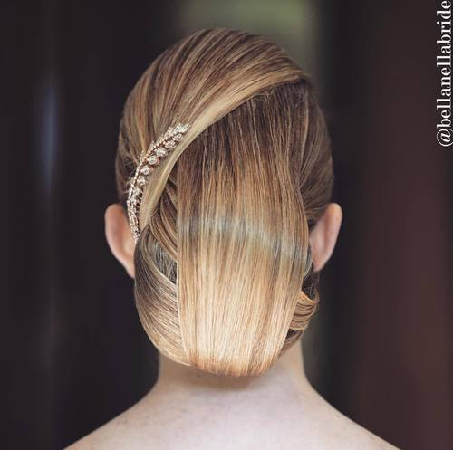 sleek formal bun updo