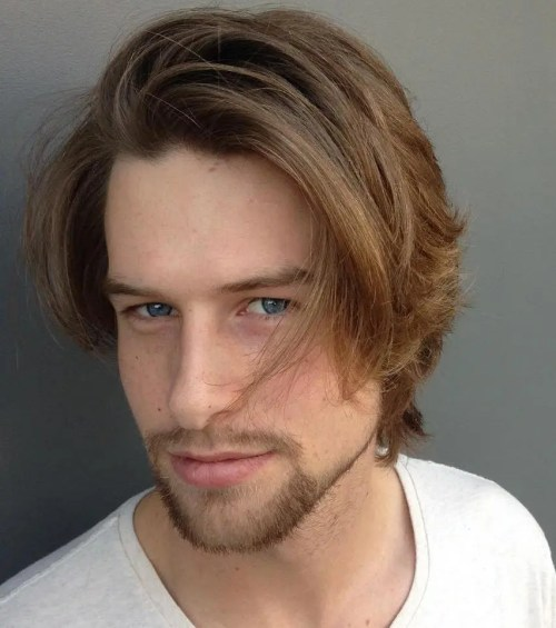 Medium Tousled Hairstyle For Men