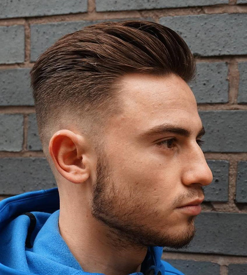 pompadour hairstyle with fade