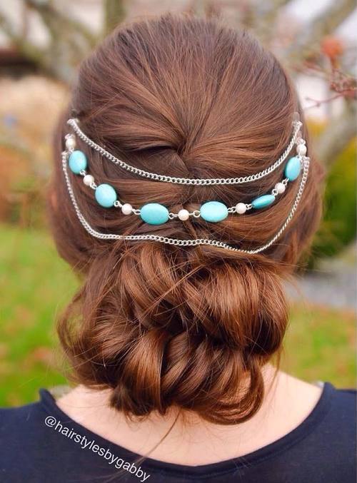 low fishtail bun