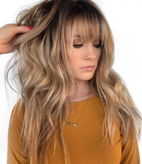 Long Hairstyles With Side Bangs And Layers 32