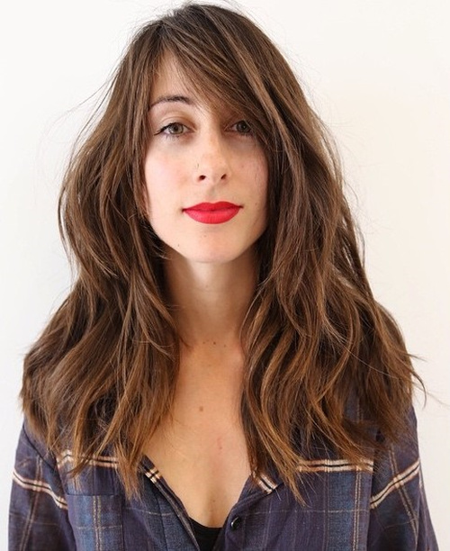 Sexy long hair with bangs