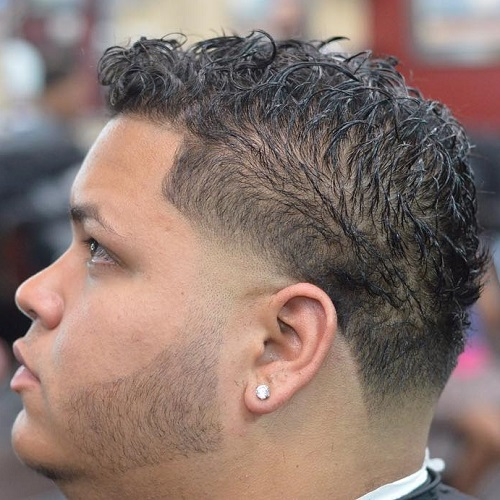 men's hairstyle for thin curly hair