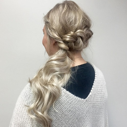 Back Braid And Side Ponytail