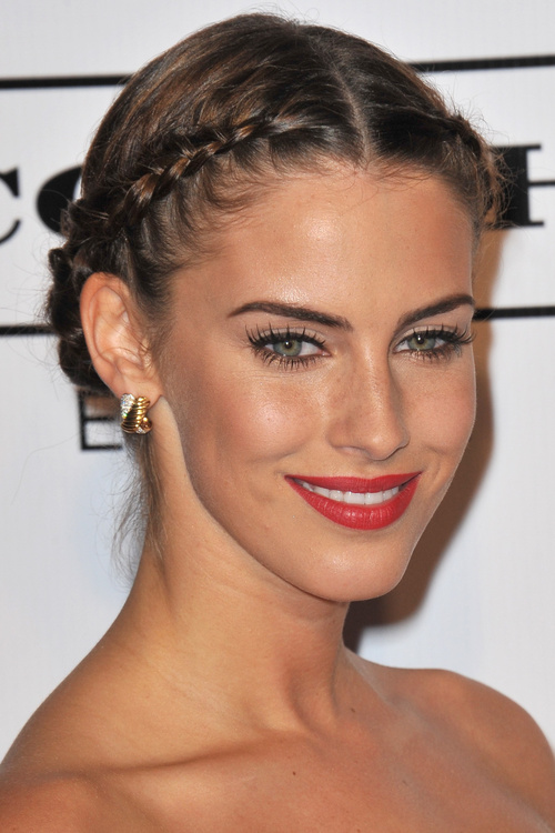 crown braid and bun hairstyle