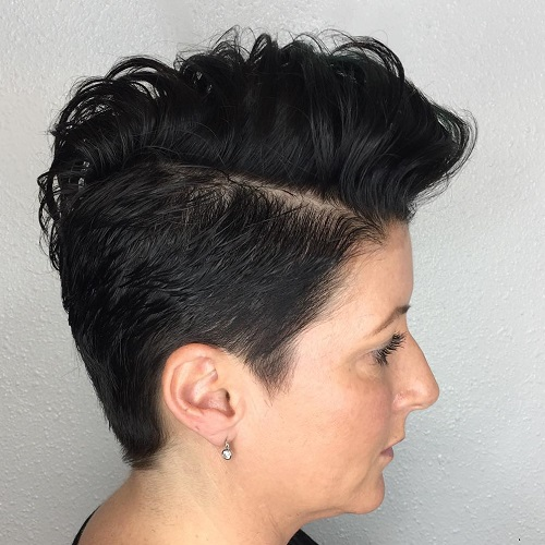 Curly Pixie Fauxhawk