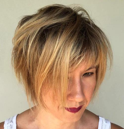 short tousled bob for thin hair