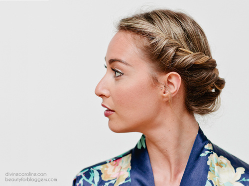 cute easy updo for medium hair