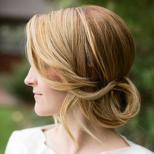 Low Updo For Wedding Or Prom