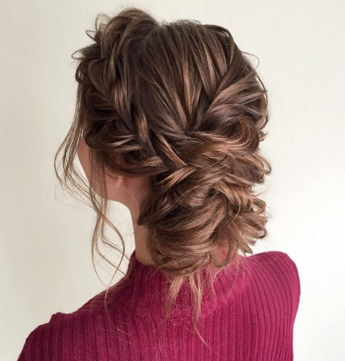 Messy Braids And Bun Updo