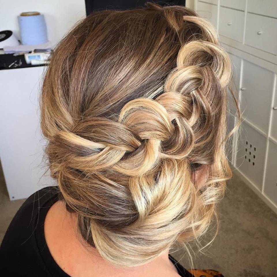 Braided Side Updo Www Pixshark Com Images Galleries