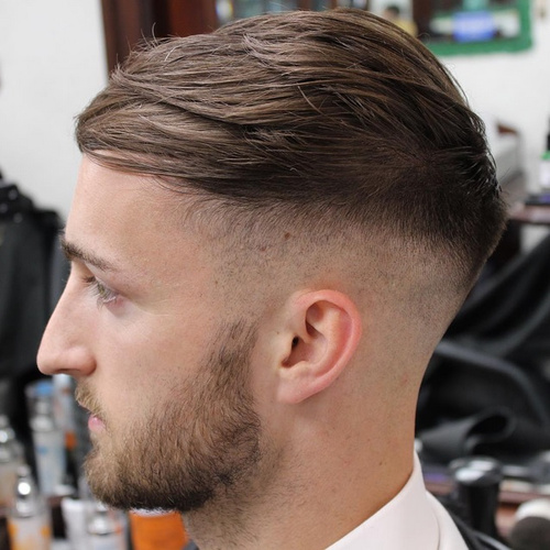 men's shaved sides extra long top hairstyle