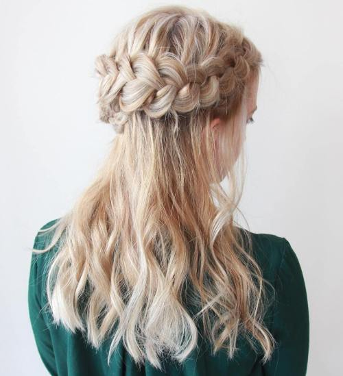 Half Up Halo Braid