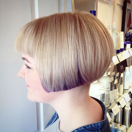 short blunt bob for straight hair