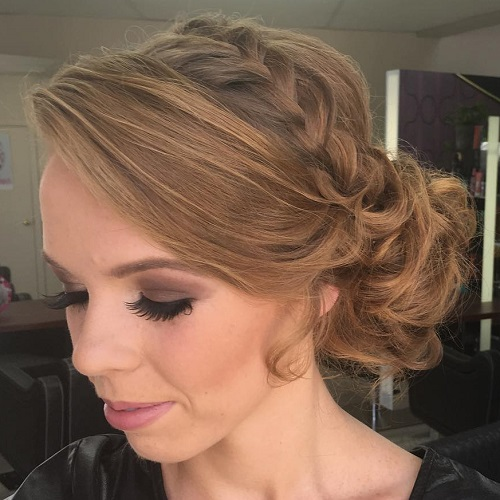Curly Side Bun Hairstyle