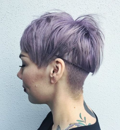 pastel purple undercut hairstyle