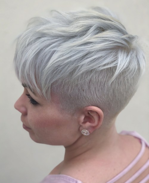 Women's Short Gray Undercut