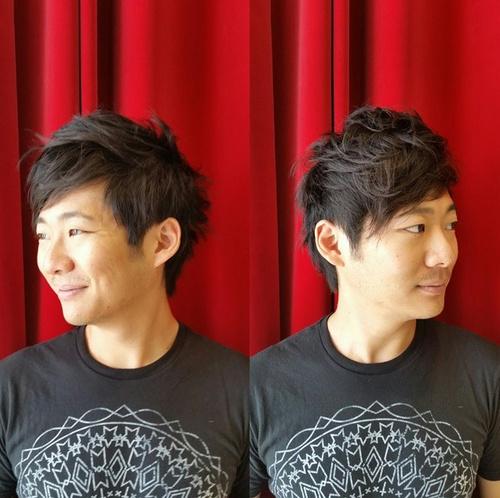 Asian medium haircut for men