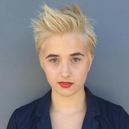 blonde short spiky haircuts for women 60 cute short pixie haircuts femininity and practicality