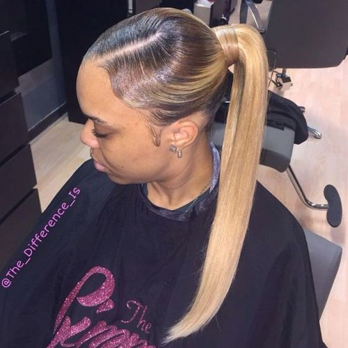 30 classy black ponytail hairstyles brown to blonde sleek ombre ponytail pmusecretfo Image collections